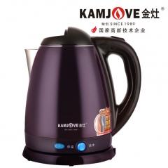 KAMJOVE/金灶 E-15 全钢保温电热水壶1.8L电茶壶烧开水壶双层防烫 紫色 1.8L